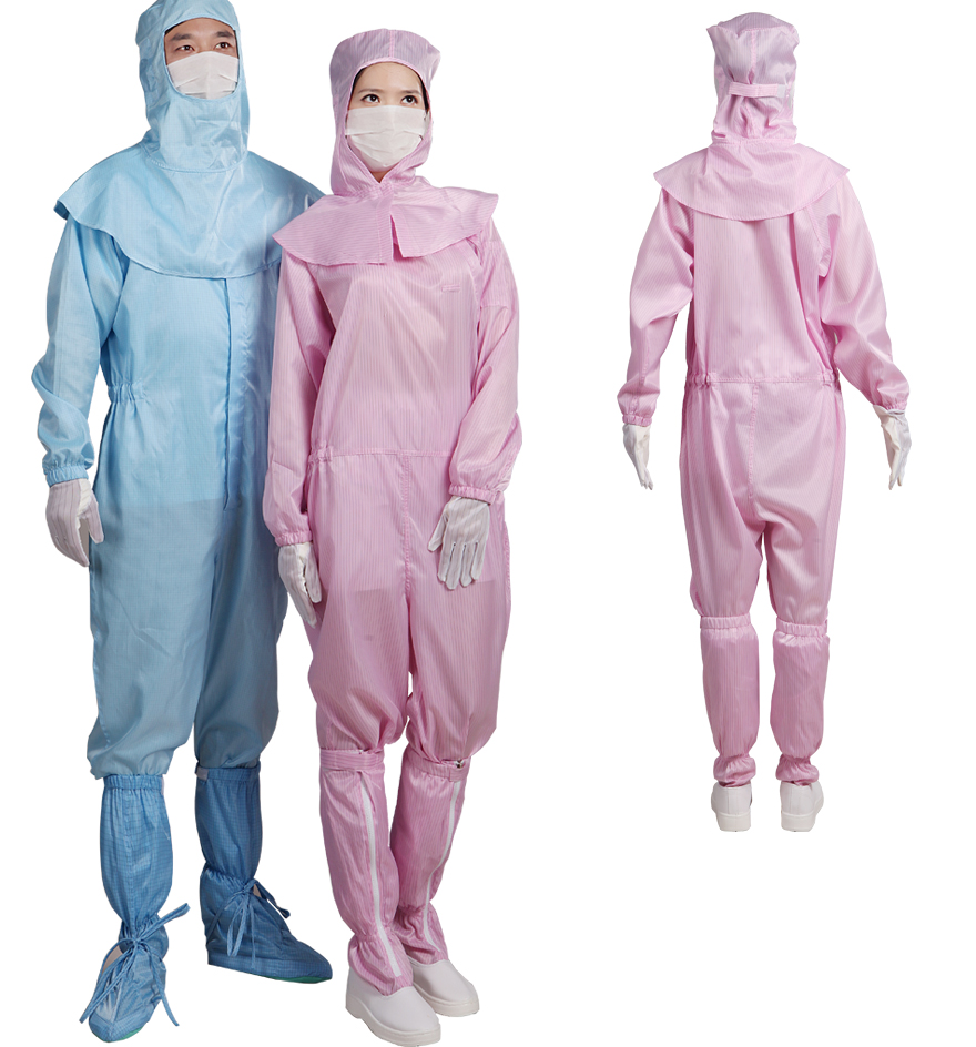 Wash Before Wearing Antistatic Clearnroom Coveralls