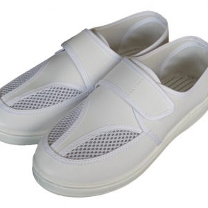 Dual Mesh Breathable Canvas ESD Cleanroom Safety Shoes CH-1818