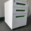 MUIR BOX DRAWER MOBILE PEDESTAL FILE CABINET WITH LOCK, LEGAL/LETTER SIZE, WHITE