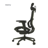 Aewony Ergo3D Ergonomic Office Chair - Rolling Desk Chair with 4D Adjustable Armrest, 3D Lumbar Support and Extra Blade Wheels, Mesh Computer Chair, Gaming Chairs, Executive Swivel Chair (Black)